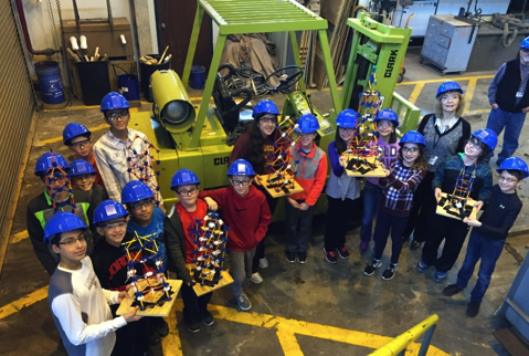 6th grade students explore the Lehigh facility
